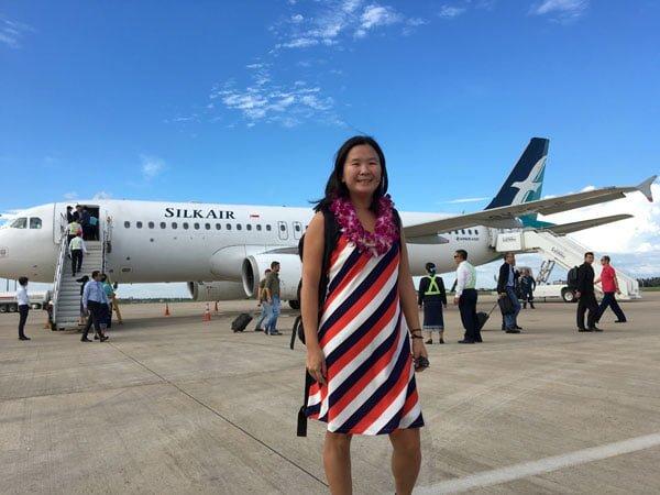 Laos Silkair Inaugural Flight Me