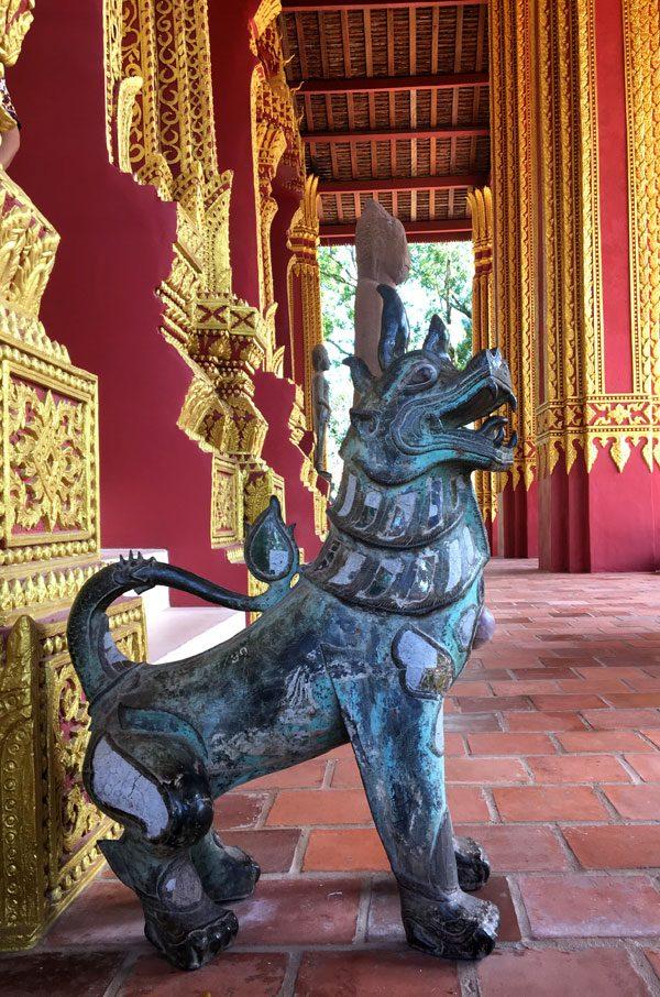 Laos Vientiane Ho Phra Keo Statue