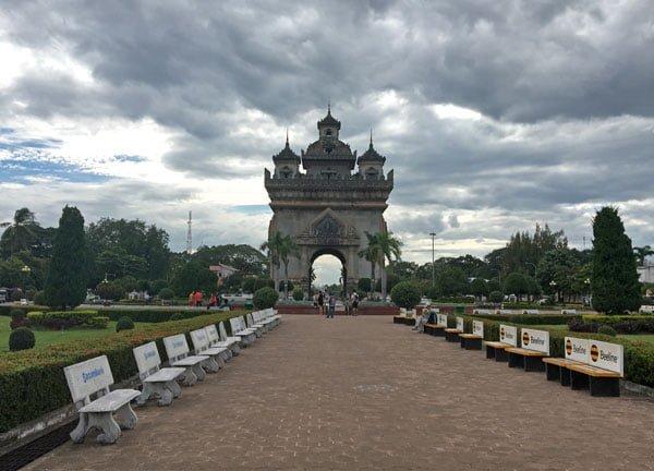 Laos Vientiane Patuxai Arch