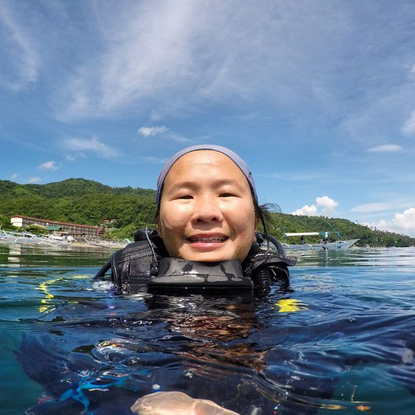Philippines Anilao Selfie Diving