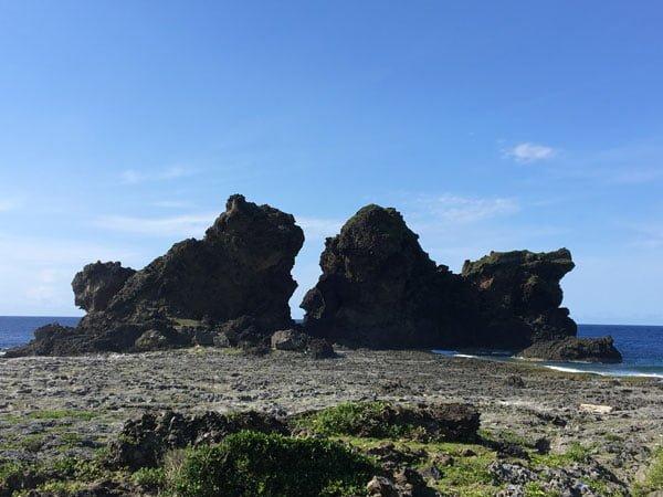 Taiwan Lanyu Twin Lion Rocks