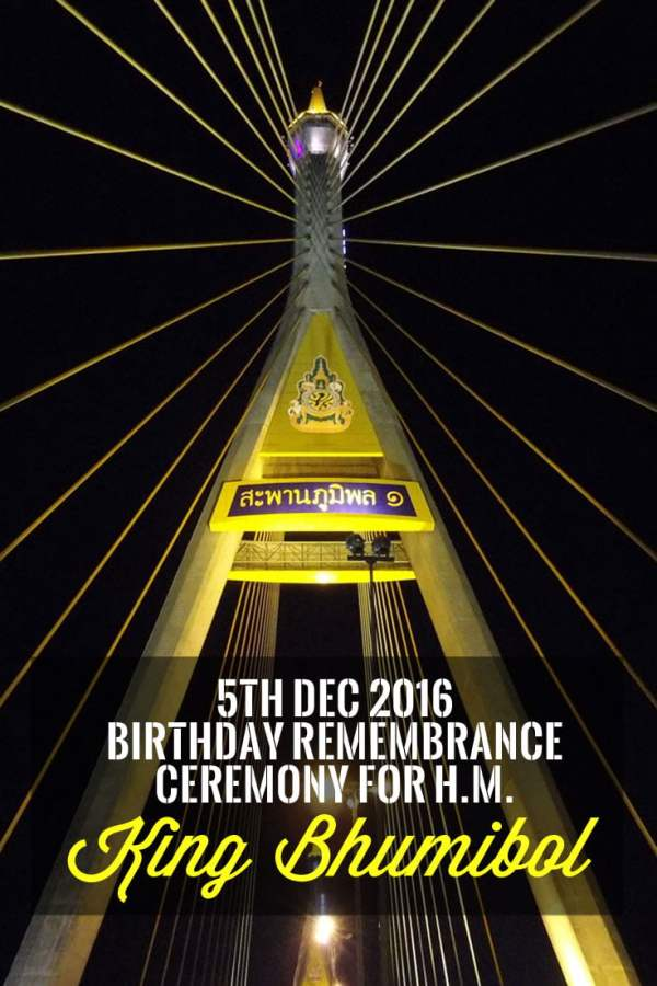 Pin it: Witnessing the Remembrance Ceremony for the late King Bhumibol on 5th Dec 2016