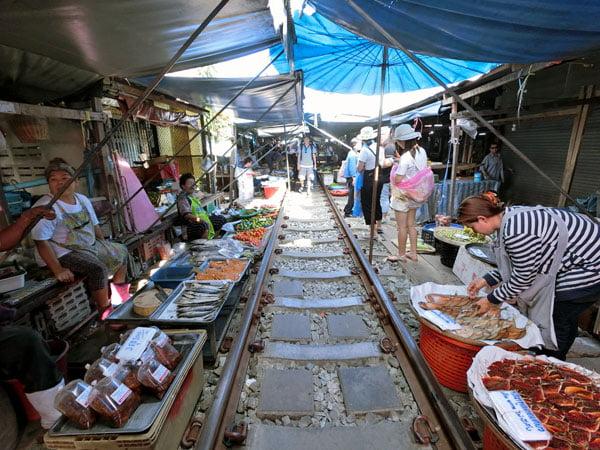 Mae Klong Train Market Stalls