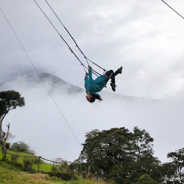 Ecuador Banos Casa Del Arbol Swing Flip