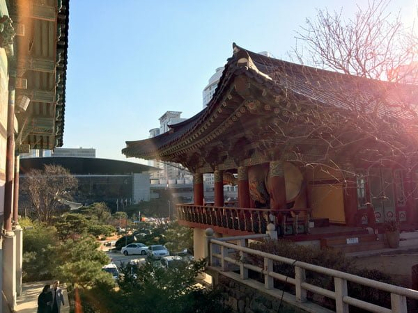 Seoul Bongeunsa Temple Skyline