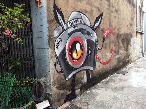 Bangkok Street Art CKR Camera