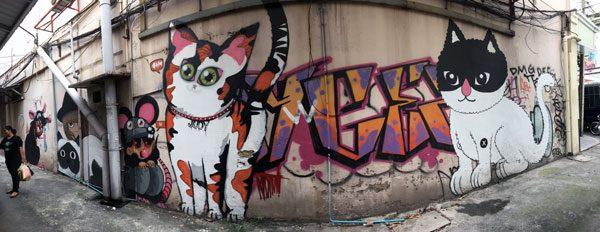 Bangkok Street Art CKR Pano