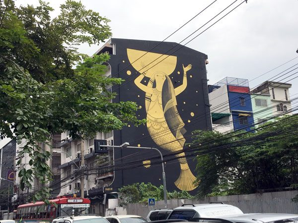 Bangkok Street Art Surawong Fikos
