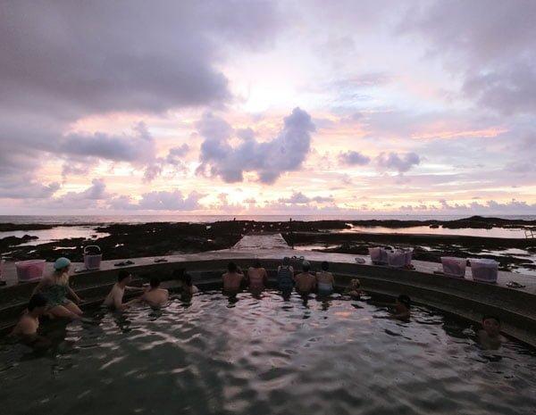 Taiwan Lyudao Zhaori Hot Springs Sunrise