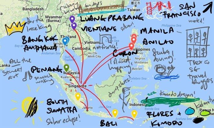 Career Break Map Others scribble