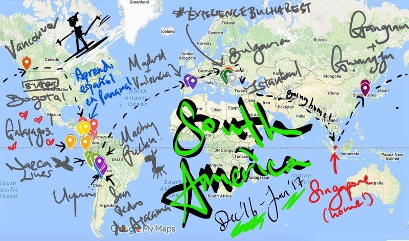 Career Break South America Leg Full scribble