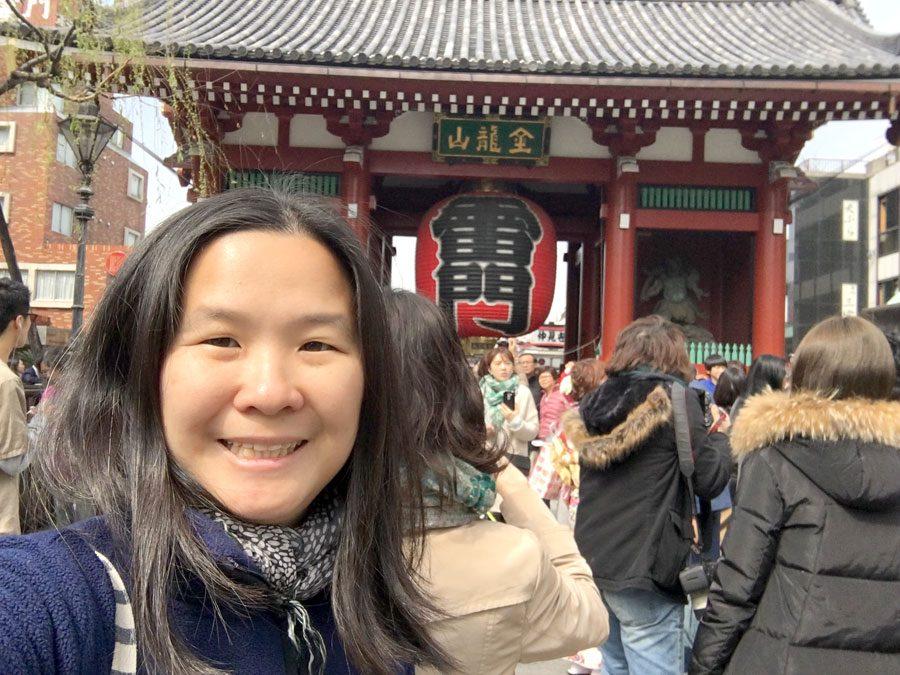 Tokyo Asakusa Temple Selfie