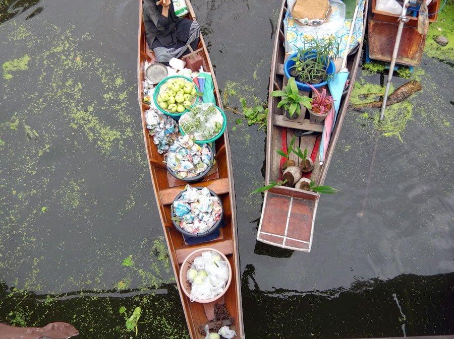 Amphawa Tha Kha Floating Market Overhead