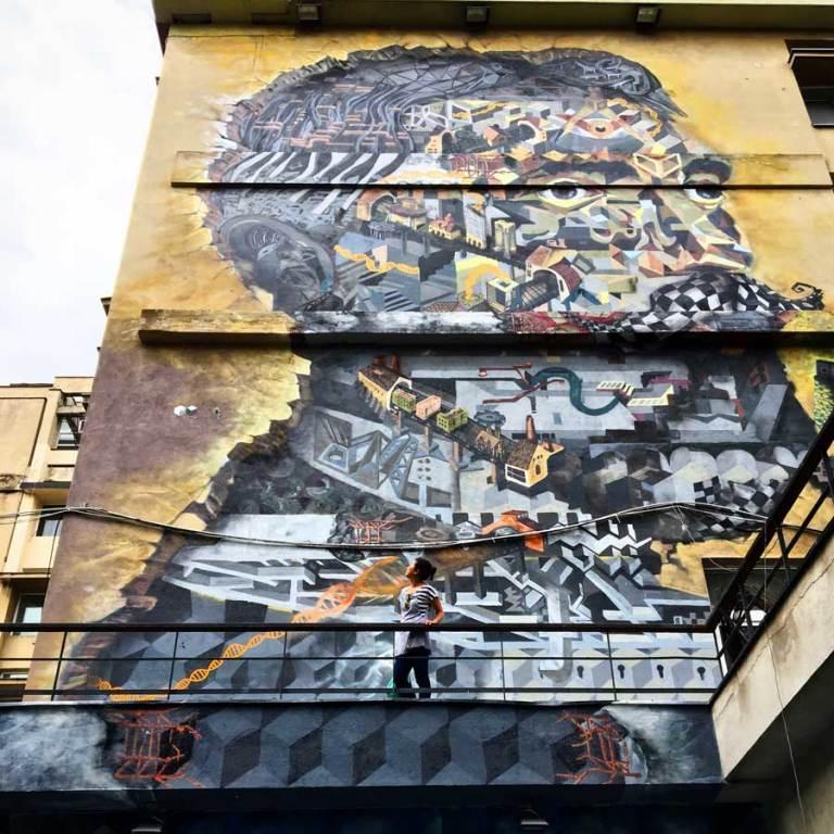 Bucharest Street Art Ion Mincu Obie