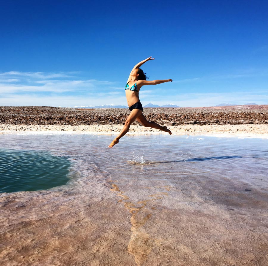 Chile Atacama Laguna Escondido Jumpshot