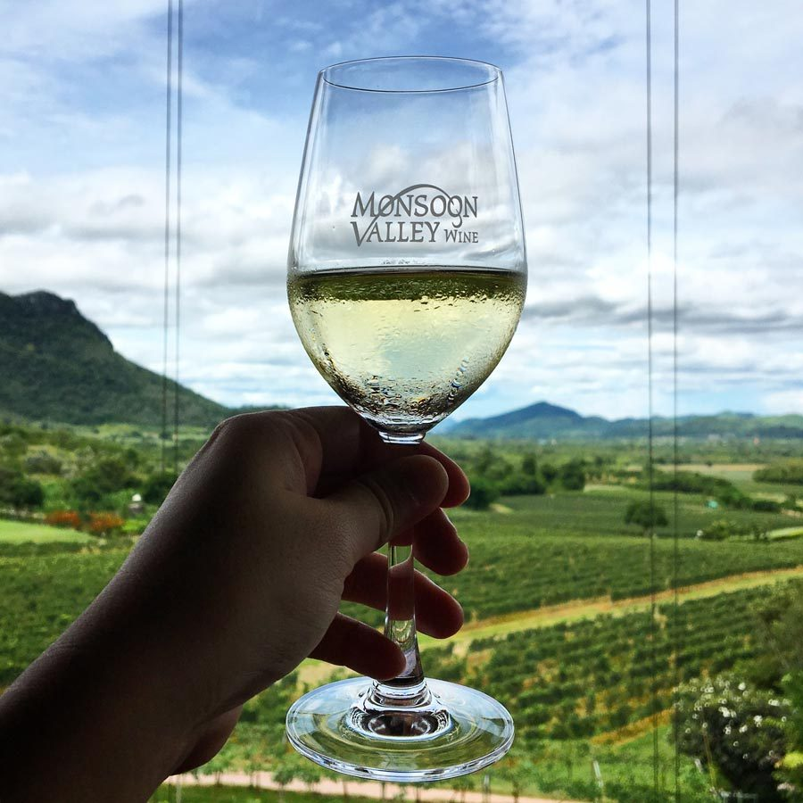 Hua Hin Monsoon Valley Wine Glass