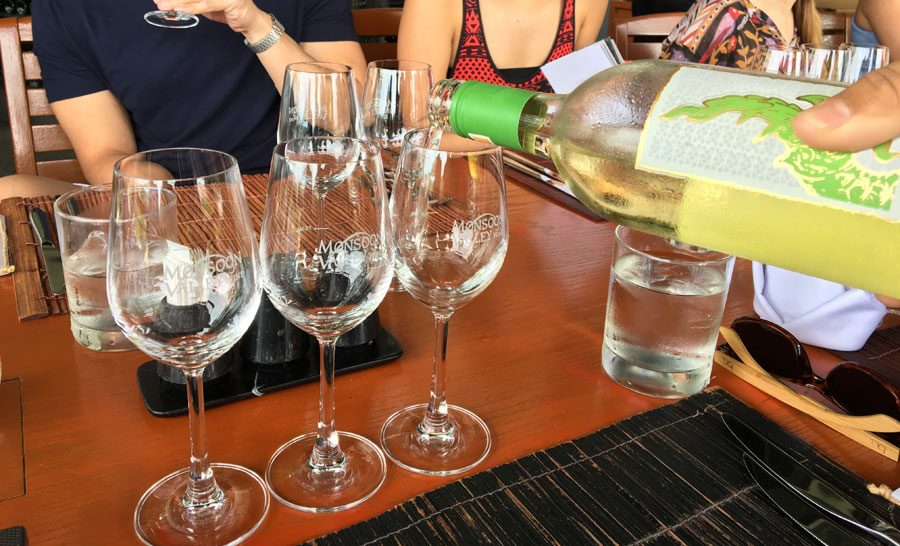 Hua Hin Monsoon Valley Wine Tasting