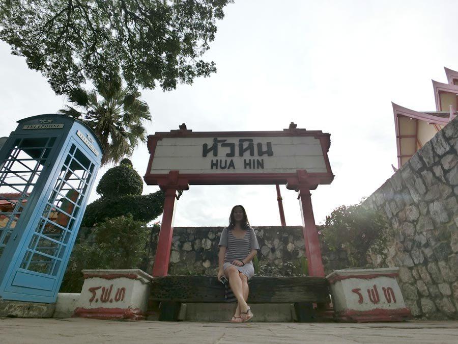 Hua Hin Railway Sign Me
