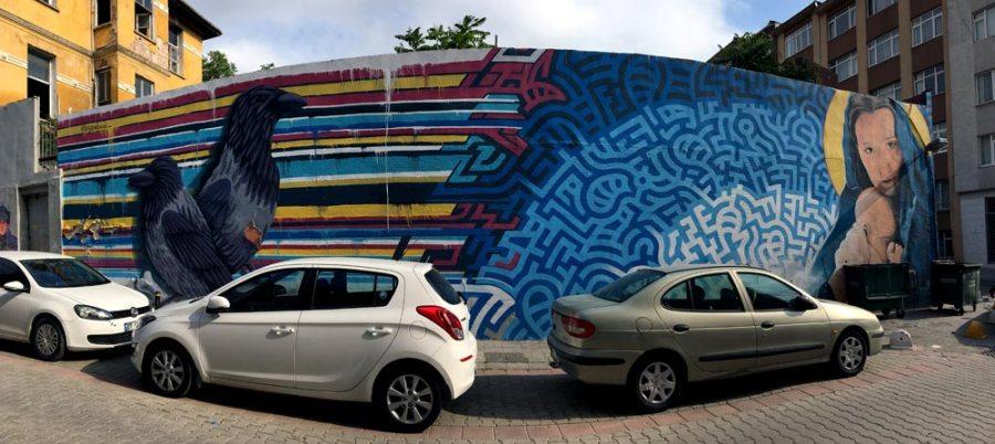 Istanbul Kadikoy Street Art Levi Ponce Kristy Sandoval