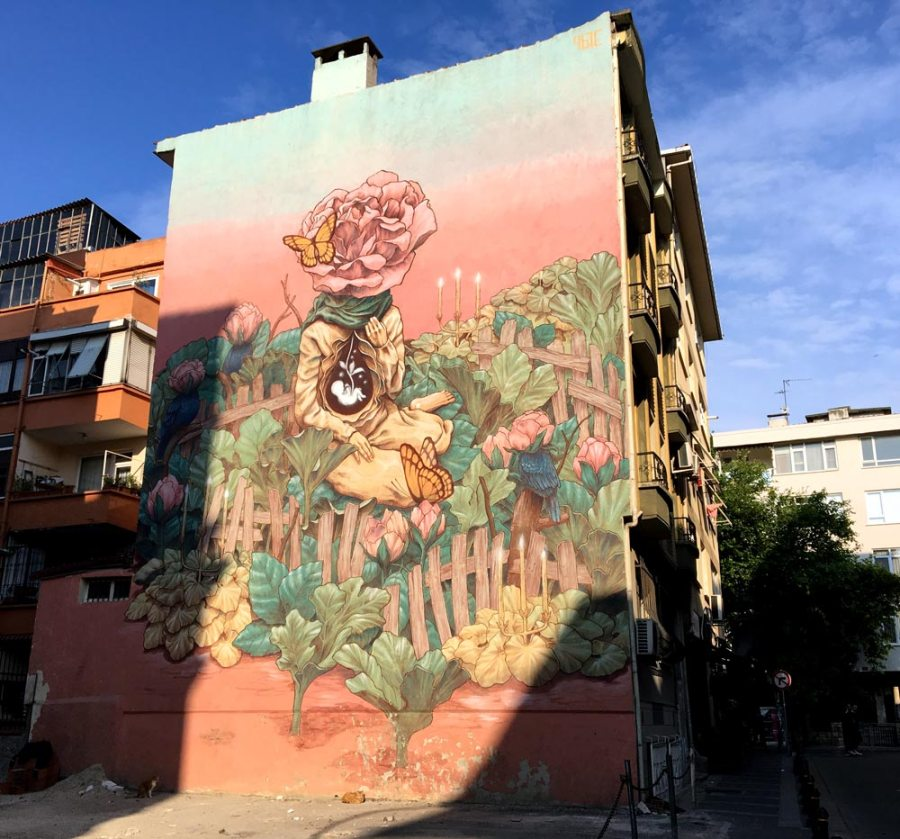 Istanbul Kadikoy Street Art Qbic