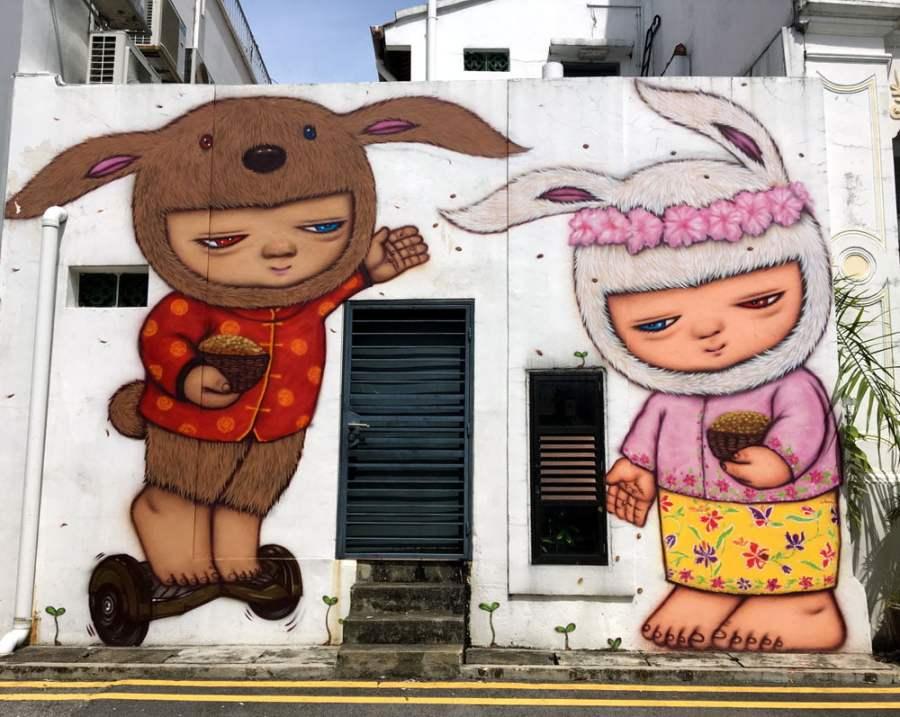 Singapore Street Art Spottiswoode Park Alexface