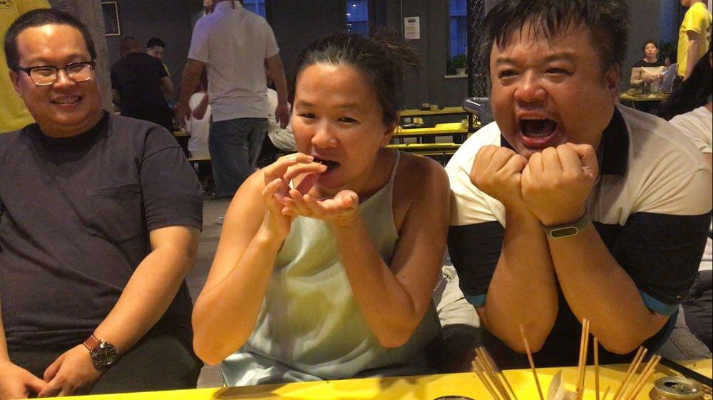 Beijing Eating Worms Me