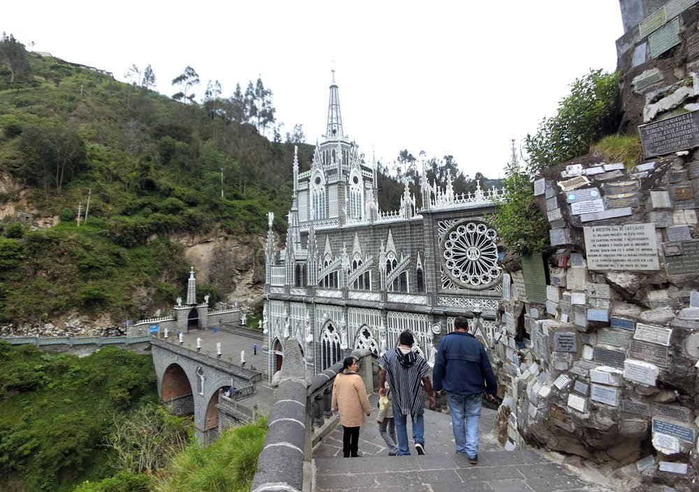 Colombia Ipiales Las Lajas Sanctuary From Back