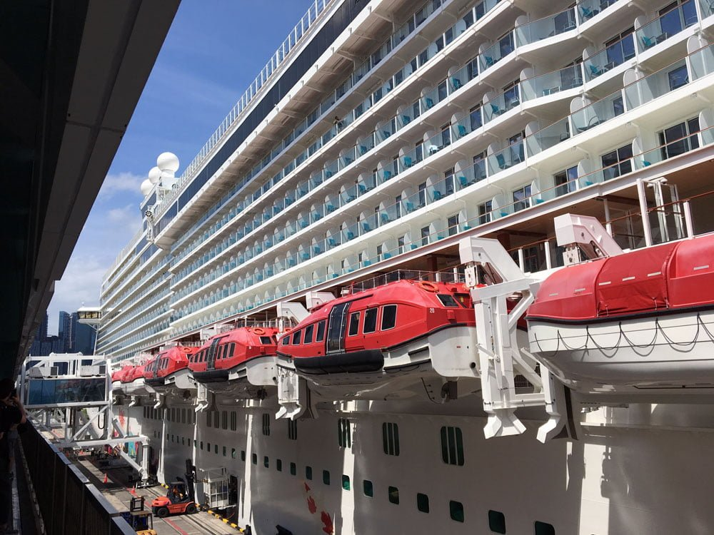 Genting Dream Cruise Ship Side Exterior