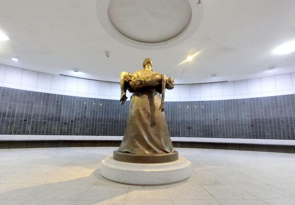 Gwangju 518 MemorialPark Sculpture Underneath
