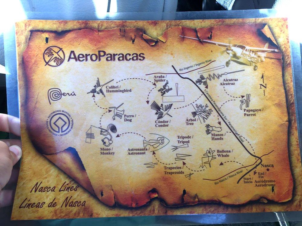 Peru Nazca Plane Map