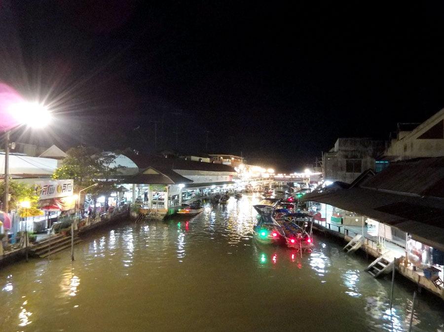 Amphawa Floating Market Night River