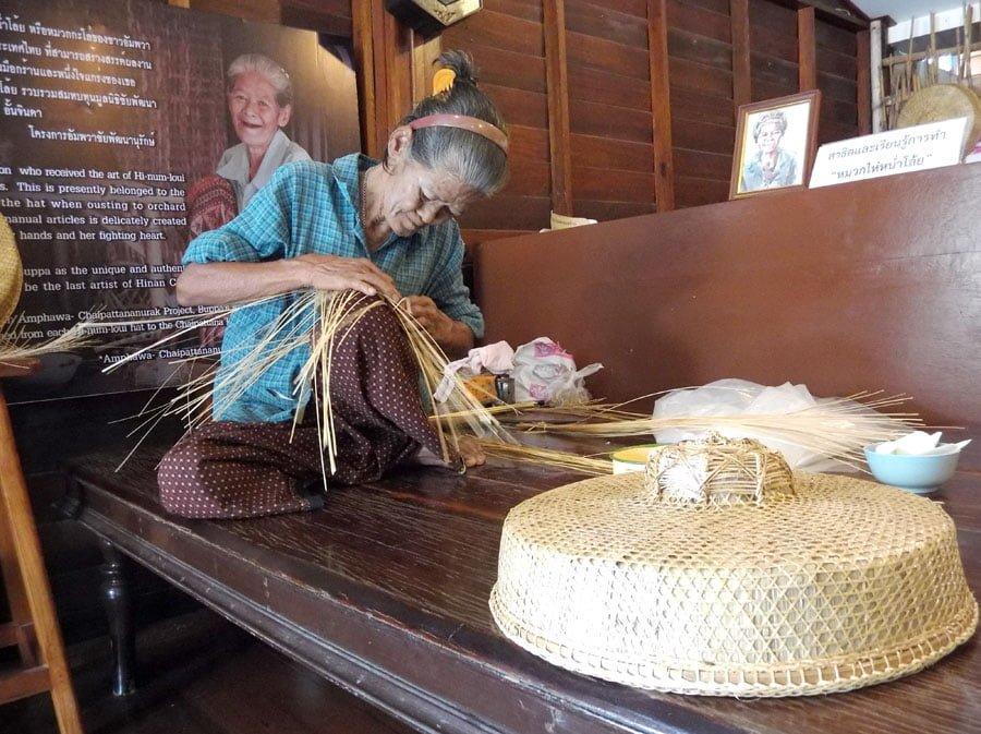 Amphawa Samut Songkhram Life Hat Weaving