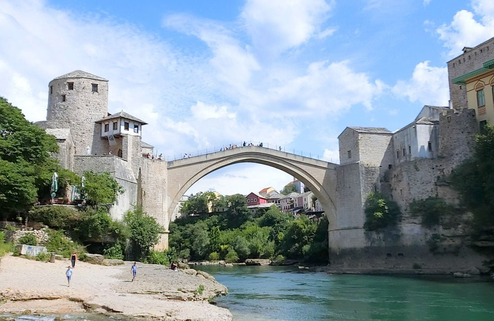 Mostar Stari Most Looking Up
