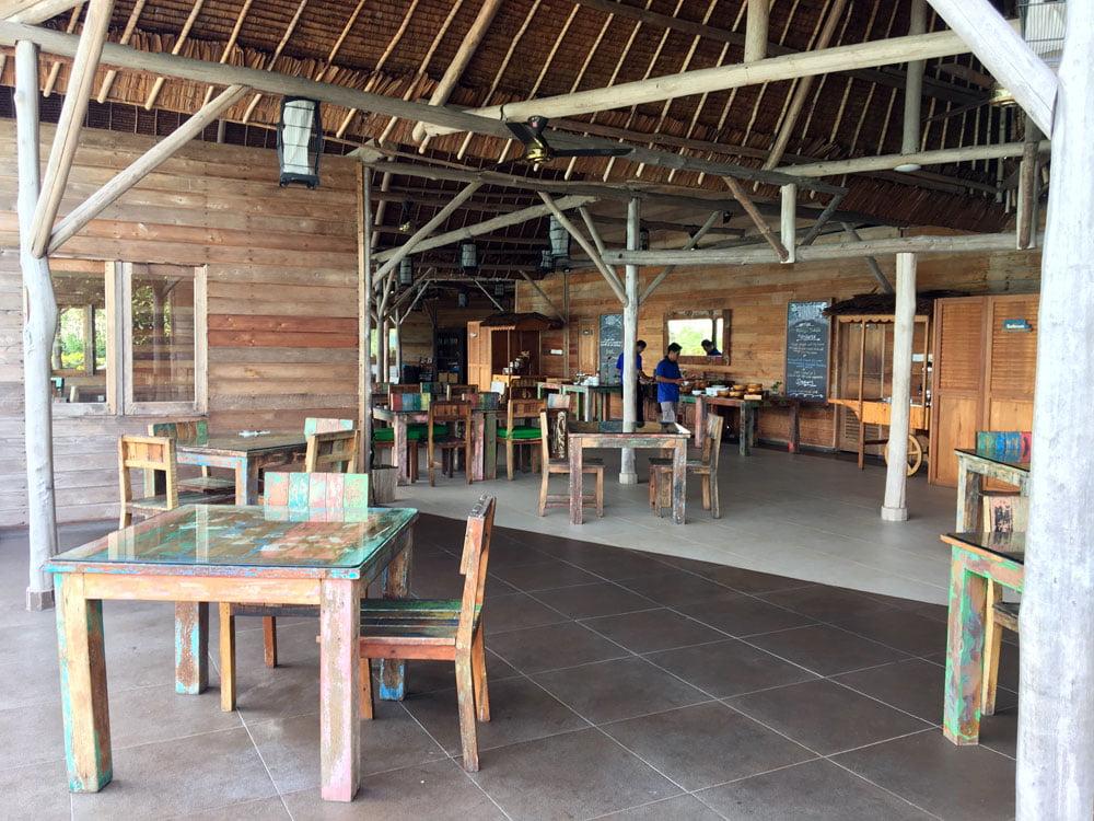 Telunas Private Island Dining Area