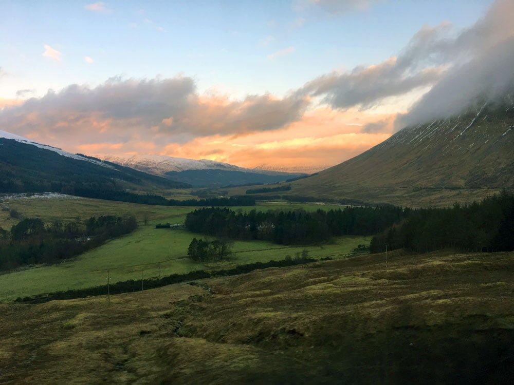 Scotland Caledonian Sleeper Sunrise