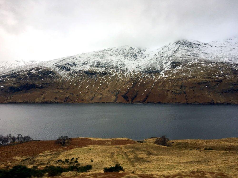 Scotland Caledonian Sleeper Window Snow Peak Lake