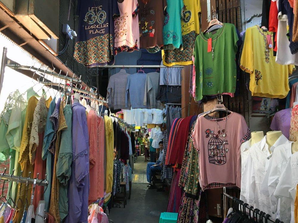 Yangon Bogyoke Aung San Market Clothes