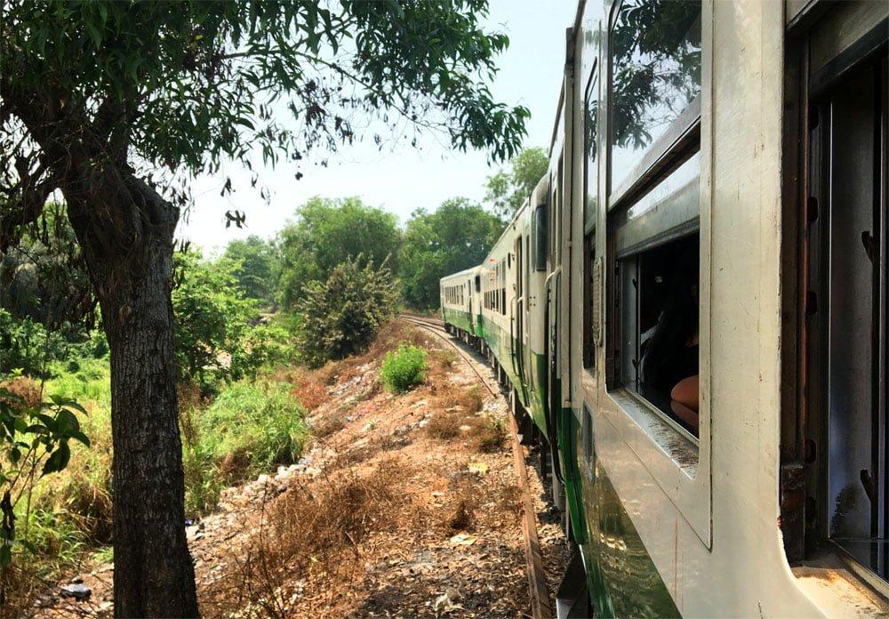 Yangon Circular Train Window En Route