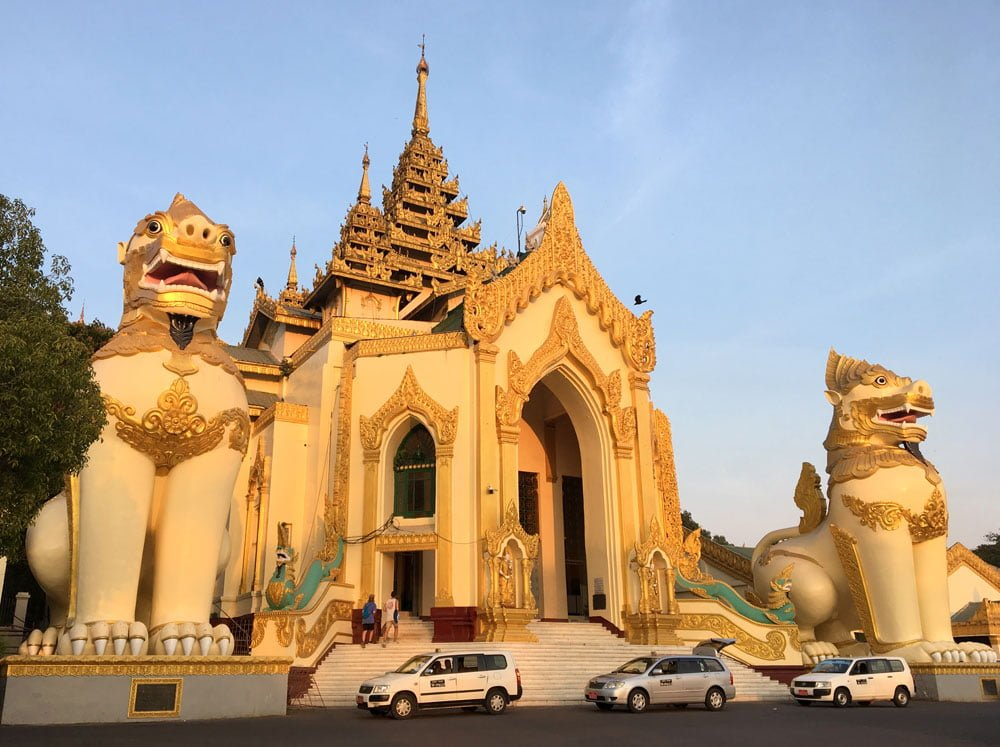 Yangon Shwedagon Pagoda Entrance