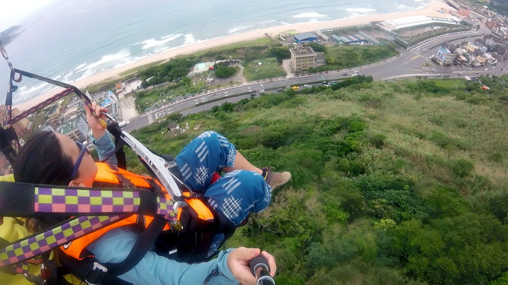 XinTaipei Wanli Paragliding Looking Down