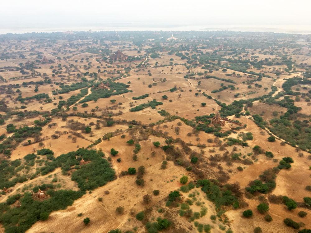 Bagan Ballooning Land Below