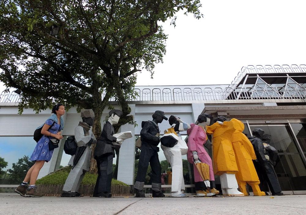 Juming Museum Statues Queue