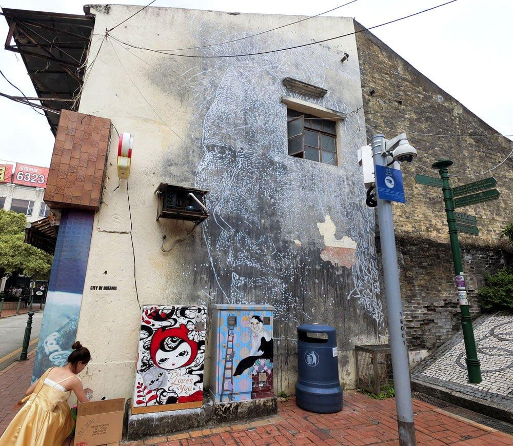 Macao Street Art Taipa Vhils Staircase