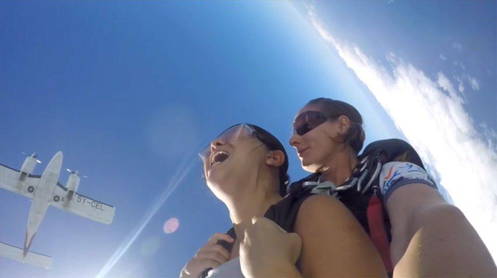 Kenya Diani Beach Skydiving Fall Plane