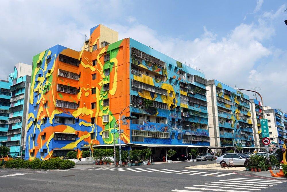 Kaohsiung Weiwuying Street Art Blocks