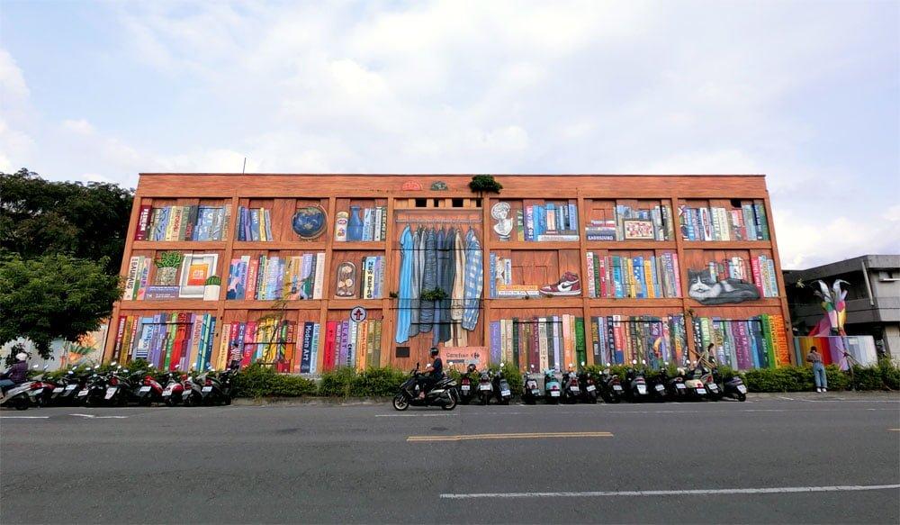 Kaohsiung Weiwuying Street Art Bookshelf