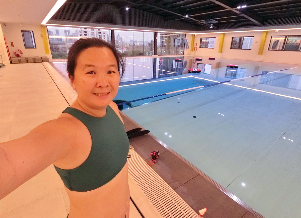 Taichung DiveCube Pool Selfie