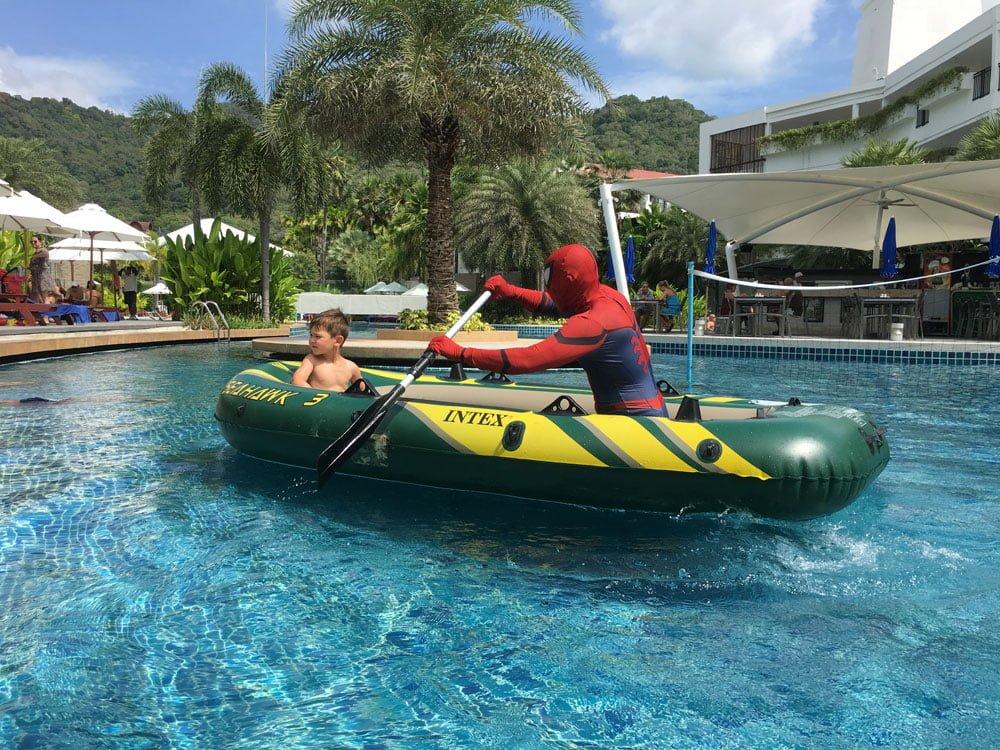 Novotel Phuket Karon Pool Spiderman