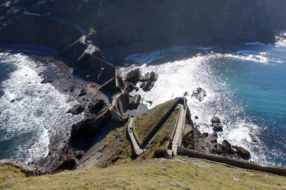 San Juan de Gaztelugatxe Peak Stairs Zigzag