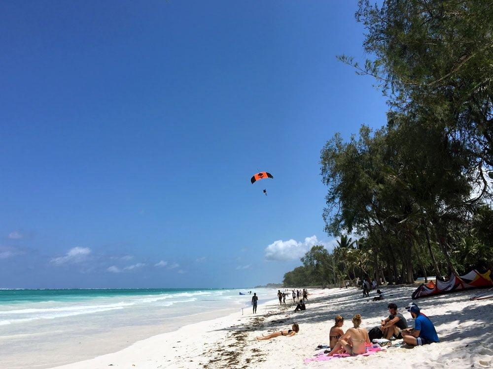 Kenya Diani Beach Skydiving Landing
